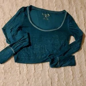 Teal colored XS long sleeve shirt